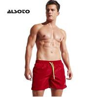 ALSOTO Board Shorts Homens Terno de Natação de Verão Basquete Esporte Correndo Solto GINÁSIO Calças Curtas Calças de Praia dos homens Calça Swim Shorts