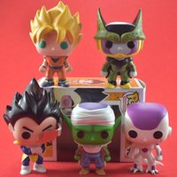 FUNKO POP Dragon Ball Z Fils Goku Vegeta Piccolo Cellule PVC Action Figure À Collectionner FUNKO POP Nouveauté Articles CCA9664 20pcs