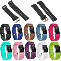 Silicone Strap Pour Fitbit Charge2 Bande Fitness Intelligent Bracelet Montres Remplacement Sport Sangle Bande pour Fitbit Charge 2