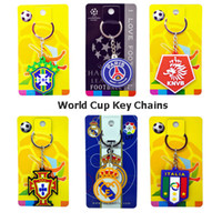 World Cup 2018 Team Logo Key Chains PVC Mascot Emblem Metal ...