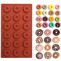 1 قطعة 18 مصغرة سيليكون دونات الخبز قوالب كعكة الشوكولاته البسكويت الحلوى الصابون سيليكون العفن الكعك الحلوى العفن