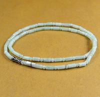 Naturlig en jade jadeit pärla pärlor halsband ljusgröna brud smycken sommar ornament natursten hand gravyr