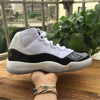 2018 New Authentic Hot 11 Concord White Black 11s XI Men Bas...