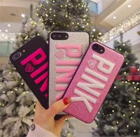 2018 New Design 3D Embroidery Love Pink Case Glitter Phone C...