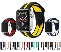 sport silicone strap for apple watch 4 3 2 1 band 42mm 44mm ...