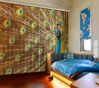 Vorhänge Schmetterlinge anpassen 3D-Vorhänge 3D-Fenster Vorhänge Pfau Landschaft Vorhang Wohnzimmer modern