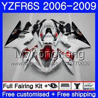 Cuerpo para YAMAHA YZF R6 S R 6S Rojo blanco negro caliente YZF600 YZFR6S 06 07 08 09 231HM.19 YZF-600 YZF R6S YZF-R6S 2006 2007 2008 2009 Fairings Kit