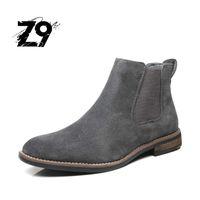 Z9 جديد أسلوب رجل جزمة جلد بقر جلد شتاء رجل جزمة عالي الجودة مريح حذاء حذاء 40-45 شحن حرّ # E991