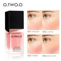 O.TWO.O Makeup Blusher Liquid Sleek Silky Paleta De Blush Colore dura lungo 4 colori Natural Cheek Blush Viso Contorno Make Up