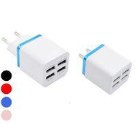 Nouveau métal Quatre mur USB Charging EU Plug 2.1A Adaptateur secteur US Chargeur Port Prise 2 pour Iphone Samsung Galaxy Tablet Ipad