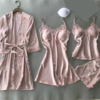 Vêtements de nuit pyjamas Pijama Feminino pyjama Voplidia quatre pièces sexy femmes Pijama Pyjama Set New Feminin Nightgown Set