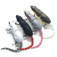 Nuevo 8.5CM Mouse Fishing Lure Sub-cebo Mouse Bionic Section 15.5g Long Shot Squid Cockroach Black Fish Cebo Artificial