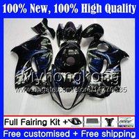 Body For SUZUKI Hayabusa Blue flames GSXR1300 2012 2013 2014 2015 19MY64 GSXR 1300 GSX R1300 08 09 10 11 12 13 14 15 Fairing Bodywork
