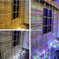 6M (W) * 3M (H) 640LED Chute d'eau d'écoulement d'eau Snowing rideau Guirlande lumineuse Chaîne Xmas Party Jardin de mariage de Noël fond Décor