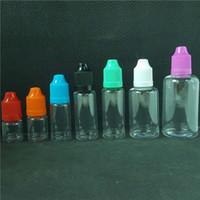 PET Bottle E Liquid leer klar 3 ml 5 ml 10 ml 15 ml 20 ml 30 ml 50 ml Vape Cig Cigarette Juice Plastikflaschen mit langen Nadelspitzen