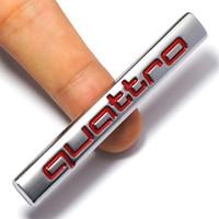 جديد 3d سيارة كواترو شعار ملصق كواترو شارة كروم شعار الملحقات لأودي a3 a4 a5 a6 a7 a8 s3 s4 s5 s6 q3 q5 q7 tt r8 rs
