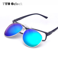 TWO Oclock Multi Colors Clip On Óculos de sol Men Polarized Women Pilot Fit Over Sun Glasses Flip Up Polaroid Lens Driving Goggles