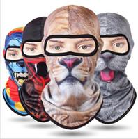 Новые 3D маска для лица с животными с ушками Спорт на открытом воздухе Cap Велосипед Велоспорт Рыбалка Мотоциклетные маски Лыжные Балаклава Хэллоуин шляпы