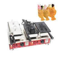 Dijital Sıcaklık Kontrolü Balık Waffle Makinesi Açık Ağız Dondurma Taiyaki Makinesi Dondurma Balık Waffle Makinesi Snack Ekipmanları NP-712