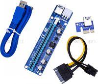 Edición de actualización VER 008C PCI-E Riser Express Riser Card 1x a 16x 6Pin PCIe Riser Card para BTC Miner Machine Edición de actualización VER