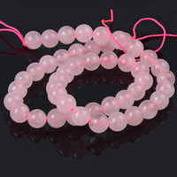 8мм розовый Натуральный камень бисер Crystal Rose Quartzs бусины Круглый DIY Свободный браслет бусы для изготовления ювелирных изделий Выберите