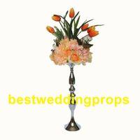 Novo estilo de Casamento De Metal Cor De Ouro Vaso de Flores Coluna Suporte para o Casamento Peça Central Decoração best179
