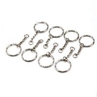 50Pcs Split Ring Keychain Key Fob Connector 4 Link Chain Key...