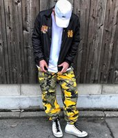 Mens Hip Hop Loose Long Trousers Pants Womens Camouflage Hip...