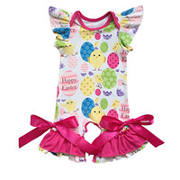 Easter Baby Clothes Ruffle Sleeve Spring Baby Girls Bodysuit...