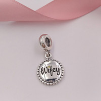 Authentic 925 Sterling Silver Beads Wifey Charm Charms Fits ...