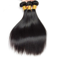 Brésilien Vierge Cheveux raides Corps Vague 3 Bundles Tissages Malaisie Pérou Indian Virgin Human Hair Extensions déchaîne Vague