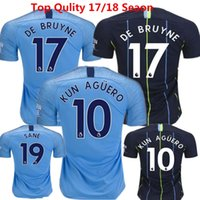 De Bruyne Camisetas de fútbol City Soccer Jerseys 18/19 G.jesus Sane Kun Aguero Uniforms Hombre Silva Sterling Kids Champions Parches English kits