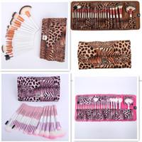 24 Pcs Maquillage Pinceaux Set De Haute Qualité Pro Blush Fondation Poudre Pinceau Kit Cosmétique Outils De Beauté Avec Leopard PU Sac En Cuir Cas DHL gratuit