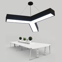 Moderno Hierro Y forma de la lámpara LED de luz pendiente Suspendor colgante más nuevo para Office Comedores Vida hecha en Zhongshan de China