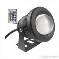 Unterwasserscheinwerfer LED Unterwasserlicht 10W LED Brunnenlicht DC AC 12V mit Aluminiumgehäuse IP68 1 IR Fernbedienung