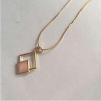xl785 Fashion Bohemian Dorato Geometrico Piazza goccia gioielli in lega di olio collana Nuovo elenco