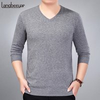 2018 New Fashion Brand Sweater For Mens Pullovers V Neck Sli...