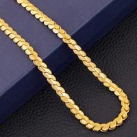 Moda hombres / mujeres 18k collar chapado en oro 5mm 24 pulgadas / 20 pulgadas exquisitas de lado de la cadena de la cadena de la cadena de serpientes Accesorios de cadena de serpientes N9105
