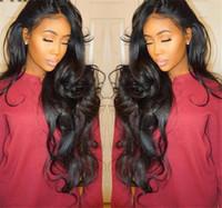 Wave Deep Wig Virgin Hair Glueless Brazilian Human Human Wave Renda Renda dianteira Perucas Full Lace Human Human Wigs para mulheres negras