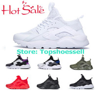 Hot 2018 New Nike Air Huarache 4 Ultra Huaraches Respirar Hurache IV 4.0 3.0 Tênis de Corrida Homens Mulheres Negras Huraches 3 SE Sneakers Esportivos EUR36-45