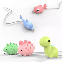 NUEVO Hot 12styles Cable Bite Fish Dragon Cable de mordida de animal para iPhone Protector Accesorio Cable de cargador Cable mordeduras Para Samsung teléfono inteligente