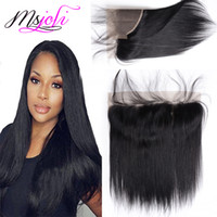 Peruvian Human Virgin Hair 13x4 Lace Frontal Queen Hair Stra...