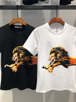 Summer 2018 Cotton lion print T- Shirts Men' s Big Size M...