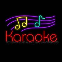 Karaoke Leuchtreklame Handcrafted Custom Real Glasrohr Concer Musik Play Show Pub Werbung Display Zeichen 19