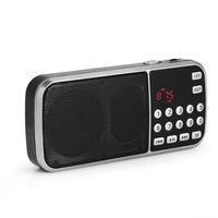 Y-501 FM Radio Portable Audio Numérique Lecteur de Musique Haut-Parleur LED Lampe de poche Support TF Carte USB AUX 100% Nouvelle Marque de Haute Qualité