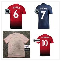 NOVA Liga Premier ALEXIS LUKAKU HOMEM POGBA FRED UTD LINGARD 10 RASHFORD  Camisa de Futebol 18 04745a85747cb