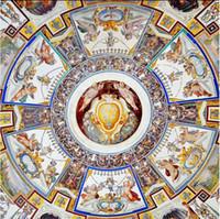 обои для рисования Ангелы Благовещение Зенит фрески 3D потолочные фрески обои