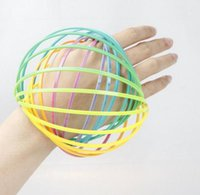 DHL Plastic Flow Ring Toy For Kid Arm Slinky Bracelet Magic ...
