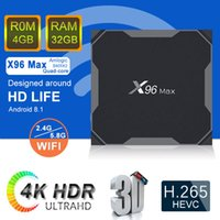 X96 Max Android tv box S905X2 Quad Core LPDDR4 4gb eMMC 32gb...