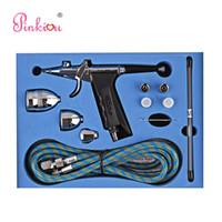 Pinkiou double action 0,2 / 0,3 / 0,5 mm Aiguille Airbrush pour la peinture Voitures Gun Aerograph Kit Air Spray Brosse Akvagrim Tattoo pour le corps